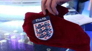 The bag containing the FA Cup draw balls