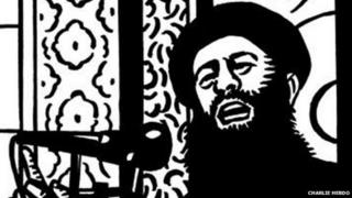 Charlie Hebdo cartoon showing Abu Bakr al-Baghdadi