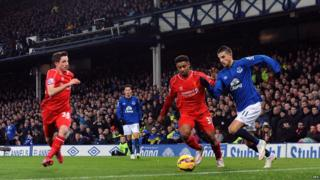 Liverpool's Jordon Ibe in action