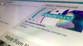 Screengrab of Newsround website