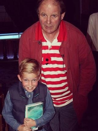 Billy with Michael Morpurgo