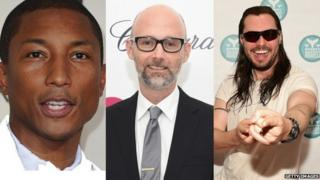 Pharrell, Andrew WK and Moby