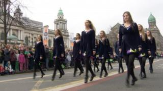 Irish dancers, Belfast
