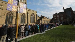 Long queues had already formed before the cathedral's doors opened at 9am