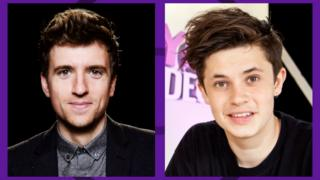Greg James and Cel Spellman