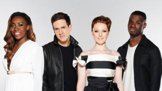 "Sasha Simone, Stevie McCrorie, Lucy O""Byrne, Emmanuel Nwamadi, the finalists for this series of the BBC programme The Voice."