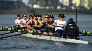 Oxford Women's crew in training