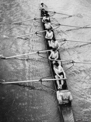 Oxford Women's crew in training in 1936