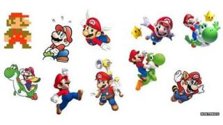 Mario designs over the decades