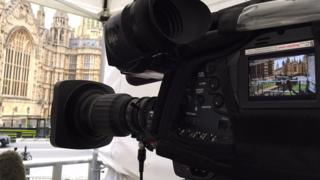Westminster camera in a tent