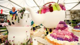 Exhibition at the Chelsea Flower Show