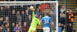 Rangers goalkeeper Cammy Bell was badly at fault for the first Motherwell goal