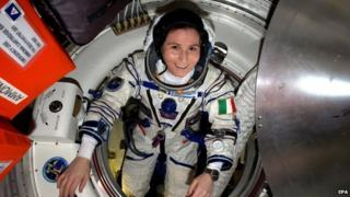 Samantha Cristoforetti, of Italy, in undated handout picture from Nasa