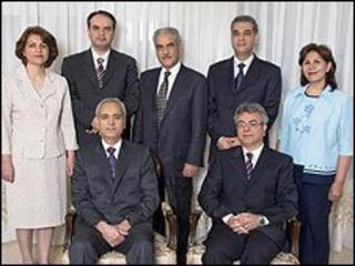Bahai leaders jailed in Iran, from left Fariba Kamalabadi, Vahid Tizfahm, Behrouz Tavakkoli, Jamaloddin Khanjani, Afif Naeimi, Saeid Rezaie and Mahvash Sabet (courtesy of Bahai International Community)