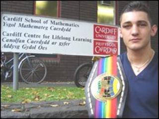 Nathan Cleverly at Cardiff University