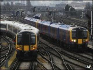 Trains at Clapham Junction