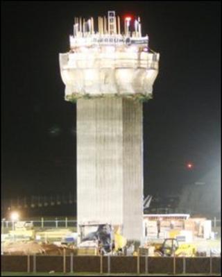 Air traffic tower at Ronaldsway