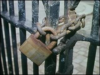 Locked gates