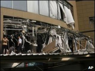 Damage at Marriott hotel