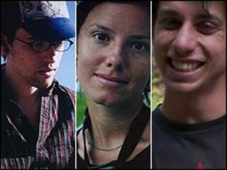 Shane Bauer, Sarah Shourd, Joshua Fattal (file images)