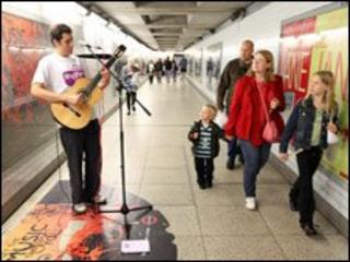 Thiago performs in Busking Underground competition