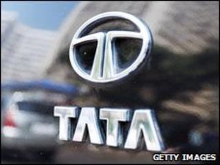 Tata emblem on a car