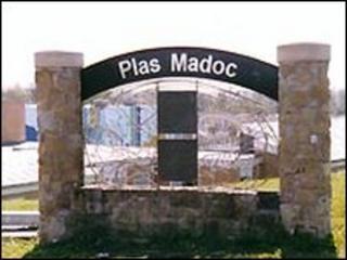 Plas Madoc entrance sign