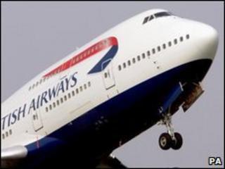 BA plane taking off