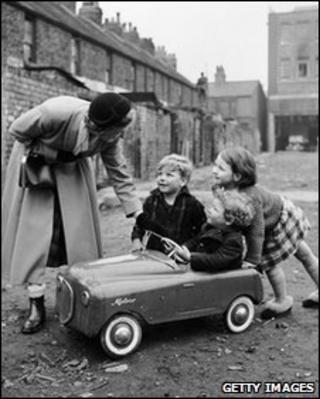 Children playing in the 1960s
