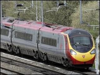 A Virgin Pendolino train