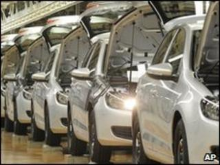 Volkwagen production line, Germany