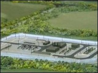 Model of proposed gas plant