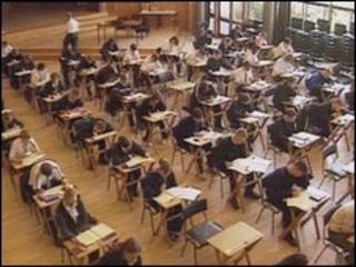 Pupils taking examinations
