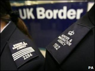 UK Border Agency officials (file pic)