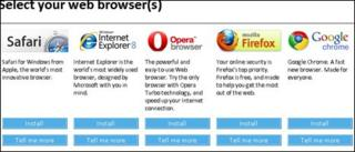 Browser choice screen, Microsoft
