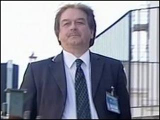 John Watkinson arriving at employment tribunal