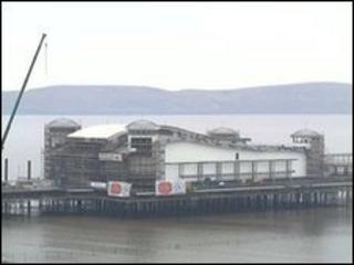 A view of Grand Pier at Weston-super-Mare