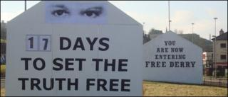 Free Derry Corner and replica constructed for Set The Truth Free Campaign