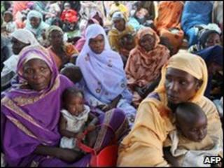 Darfur refugees in Khartoum, file image