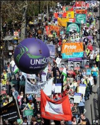 March against public sector cuts in London
