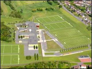 An aerial view of how new school will look