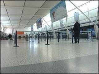Empty EMA departure lounge