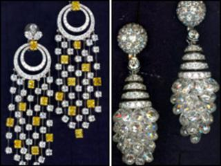 Items of jewellery stolen in the robbery