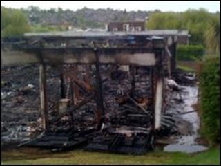Arnold Hill School block fire damage