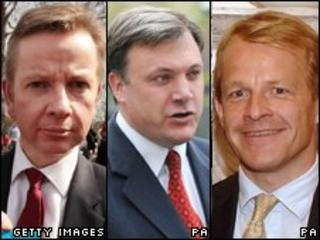 Michael Gove, Ed Balls and David Laws