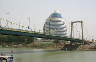 Tuti Island bridge in Khartoum, Sudan