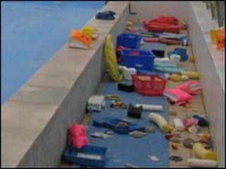 Damaged pool equipment