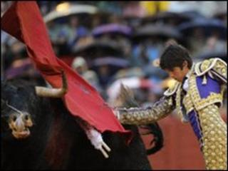 Bullfighter in Seville, Spain