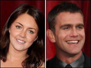 Lacey Turner and Scott Maslen