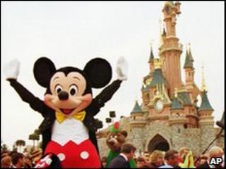 Mickey Mouse at Euro Disney